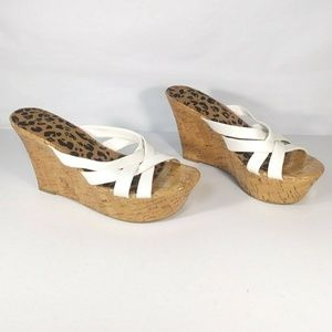 Jessica Simpson Wedge Slip-on Sandals Size 8.5 B